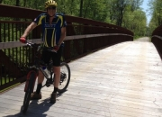 Biking over the Meherrin River
