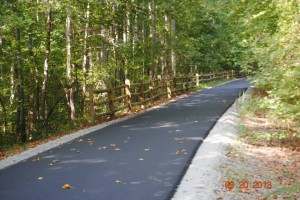 Newly paved four mile section of the Tobacco Heritage Trail