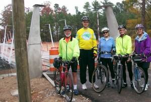 American Tobacco Trail cyclists